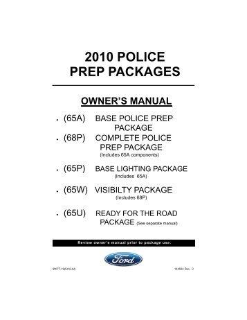 2010 POLICE PREP PACKAGES - Crown North America