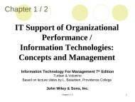 IT Support of Organizational Performance - Institute for Information ...