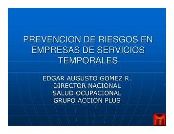 prevencion de riesgos en empresas de servicios temporales