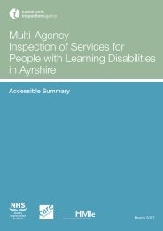 Multi-Agency Inspection of Services for People with Learning ...