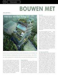 Interview met Ken Yeang - Knooppunt Bouwen met Groen