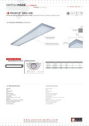 SWITCH MADE DATA SHEETS PANEOS® 200x1200