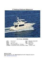 57' McKinna Pilothouse Walkaround - McKinna Yachts
