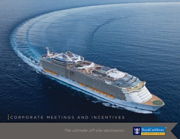 Meetings & Incentives Overview Brochure - Royal Caribbean