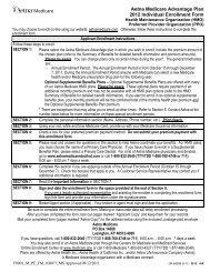 Aetna Medicare Advantage Plan 2012 Individual Enrollment Form
