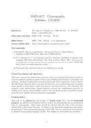 MAD 6477 Cryptography Syllabus - Florida Atlantic University