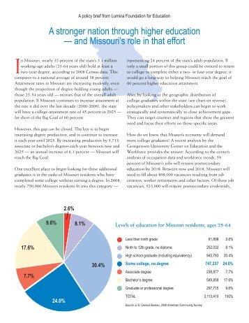 Download state-specific data for Missouri - Lumina Foundation