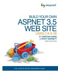 Build Your Own ASP.NET 3.5 Web Site Using C# & VB - DOC SERVE