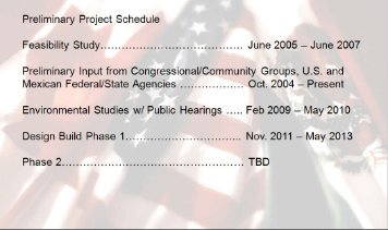 Preliminary Project Schedule Feasibility Study ...