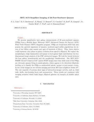 HST/ACS SnapShot Imaging of 29 Post-Starburst Quasars