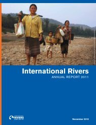 2011 Annual Report - International Rivers