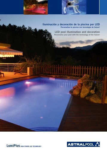 Iluminación y decoración de la piscina por LED - Poolaria