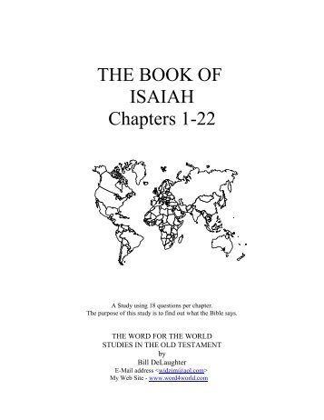 THE BOOK OF ISAIAH Chapters 1-22 - word4world.com