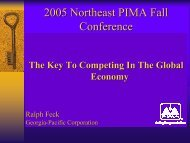 The Key to Competing in the Global Economy - PIMA
