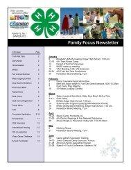 Family Focus Newsletter for January/February ... - Marathon County