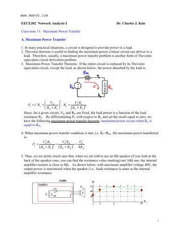 Maximum Power Transfer - MWFTR