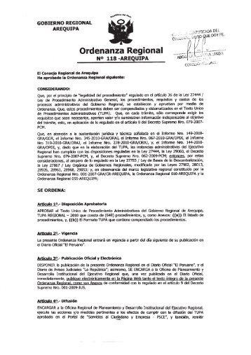 Texto Único de Procedimientos Administrativos - Gerencia Regional ...
