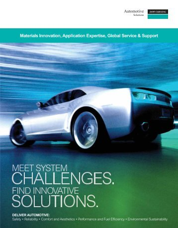 Meet system challenges. Find innovative solutions. - Dow Corning
