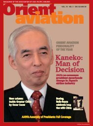 Changes in the air - Orient Aviation