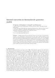 Internal convection in thermoelectric generator models