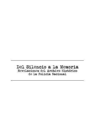 Del Silencio a la Memoria - Revelaciones del AHPN 1 - Biblioteca OJ