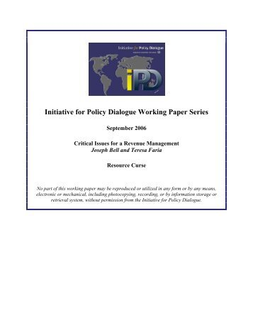 Paper - Initiative for Policy Dialogue