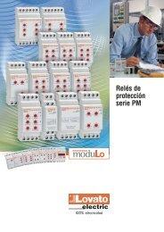 Desplegables - Relés de proteccion serie PM - LOVATO Electric SpA