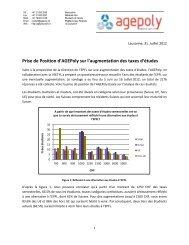 Prise de Position d'AGEPoly sur l'augmentation des taxes d ... - VSETH