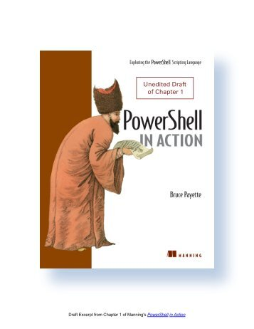 PowerShell In Action - Chapter 1 - Manning Publications