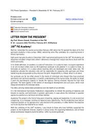 LETTER FROM THE PRESIDENT - sportcentric