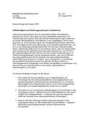 Landtag 20. August 2013 18. Wahlperiode Kleine Anfrage der ...