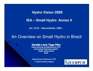 An Overview on Small Hydro in Brazil An Overview on Small Hydro ...