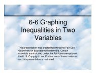6-6 Graphing Inequalities in Two Variables - Mona Shores Blogs