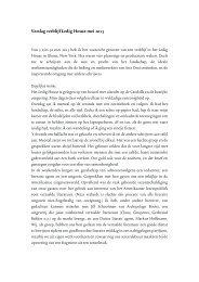 Verslag verblijf Ledig House mei 2013 - Nederlands Letterenfonds