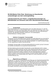 (BAG, 2011): Literaturrecherche zum Thema - Transgender Network ...