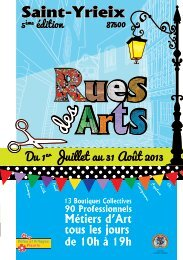 Rues des arts 2013 - Saint-Yrieix-la-Perche