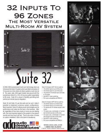 Product Cut Sheet for Suite 32 - Audio Design Associates
