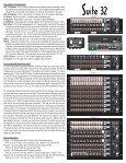 Product Cut Sheet for Suite 32 - Audio Design Associates - Page 2