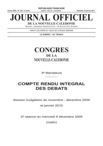 journal officiel - Documentation juridique NC - Gouvernement de la ...
