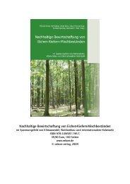 Nachhaltige Bewirtschaftung von Eichen-Kiefern ... - Buecher.de