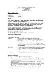 Lior Guttman - Curriculum Vitae - Agricultural Research Organization