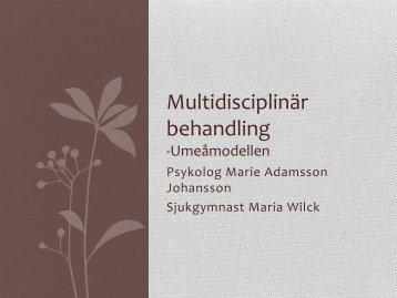 Multidiciplinär behandling