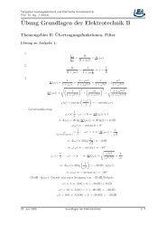 Übung 1 - Fachgebiet Leistungselektronik und Elektrische ...