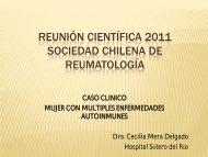 Caso clínico - Sociedad Chilena de Reumatología