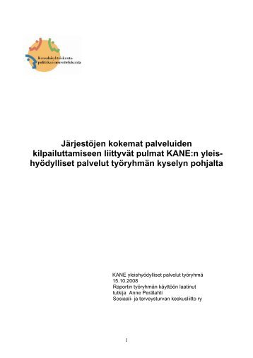 Järjestöjen kokemat palveluiden kilpailuttamiseen ... - Kansanvalta.fi