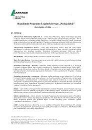 Regulamin promocji - Lafarge