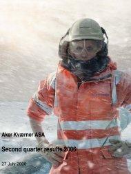 2nd Quarter Report 2006 - Aker Solutions