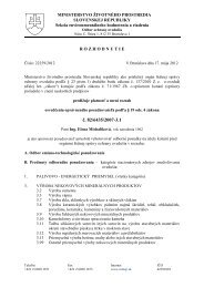 č. 82/6435/2007-3.1 - Ministerstvo životného prostredia