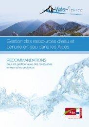 Gestion des ressources d'eau et pénurie en eau dans les Alpes
