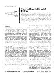 Chaos and Order in Biomedical Rhythms - Lavi - UFRJ